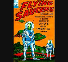 Retro Vintage Comic Book Cover Flying Saucers no.1, UFO Long Sleeve T-Shirt