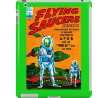 Retro Vintage Comic Book Cover Flying Saucers no.1, UFO iPad Case/Skin