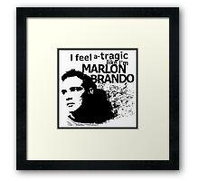 """""""I feel a-tragic like I'm Marlon Brando"""" - Bowie lyrics - Dark Framed Print"""