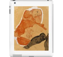 Egon Schiele - Girl in Red Robe and Black Stockings 1911  Egon Schiele  Woman Portrait iPad Case/Skin