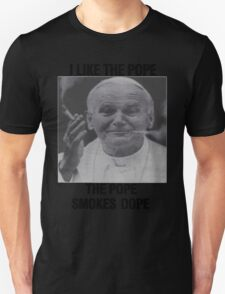I Like the Pope, The Pope Smokes Dope - ONE:Print Unisex T-Shirt