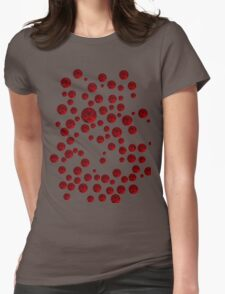 Red balls Womens Fitted T-Shirt