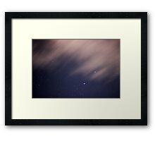 Night Time Sky Framed Print