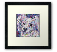 Papillon painting - 2016 Framed Print