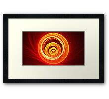 Orange Marble Framed Print