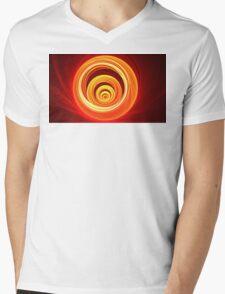 Orange Marble Mens V-Neck T-Shirt