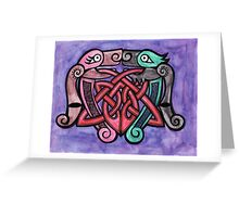 Celtic Dogs Greeting Card