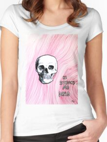 he struck me dead - red ink drawing Women's Fitted Scoop T-Shirt