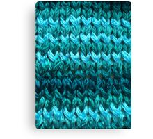 Teal Knit Pattern Canvas Print