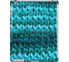 Teal Knit Pattern iPad Case/Skin