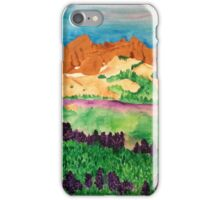 Oregon Landscape with Lupines iPhone Case/Skin