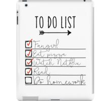 To Do List - Procrastinating Fangirl iPad Case/Skin