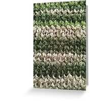 Green Knitted Pattern Greeting Card