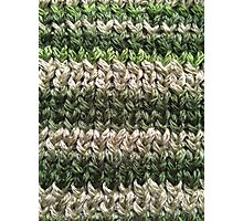 Green Knitted Pattern Photographic Print