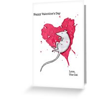 Love, The Cat Greeting Card