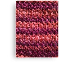 Red-Orange Knit Pattern Canvas Print