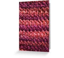 Red-Orange Knit Pattern Greeting Card