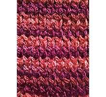 Red-Orange Knit Pattern Photographic Print