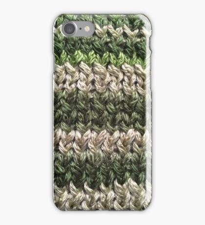 Green Knitted Pattern iPhone Case/Skin