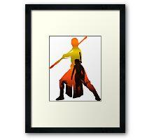 Rey Silhouette Framed Print