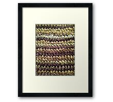 Golden Brown Knitted Pattern Framed Print