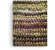 Golden Brown Knitted Pattern Canvas Print