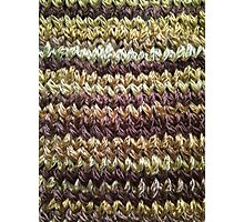 Golden Brown Knitted Pattern Photographic Print