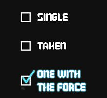 One with the Force (Blue) Womens Fitted T-Shirt