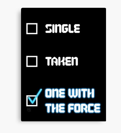 One with the Force (Blue) Canvas Print