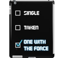 One with the Force (Blue) iPad Case/Skin