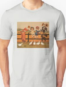 Victorian woman children ducks Kate Greenaway T-Shirt