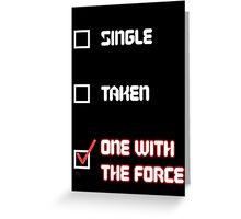One with the Force (Red) Greeting Card