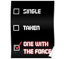 One with the Force (Red) Poster