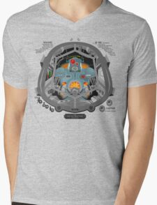 Piloted by a robot Mens V-Neck T-Shirt