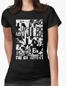 Black and white collage texture paper Womens Fitted T-Shirt