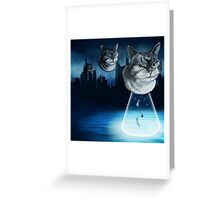 Alien kitten Greeting Card