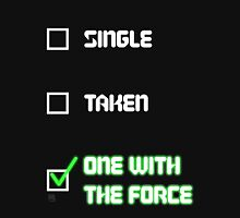 One with the Force (Green) Womens Fitted T-Shirt
