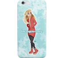 Love keeps me moving iPhone Case/Skin