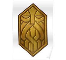 Golden Dwarven Sigil Poster