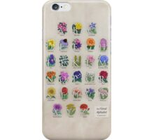 The Floral Alphabet iPhone Case/Skin