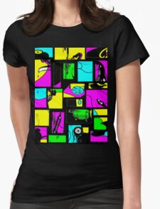 Granny's Things Coloured With Black Threads Abstracted T-Shirt