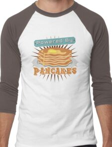 Powered by Pancakes Men's Baseball ¾ T-Shirt