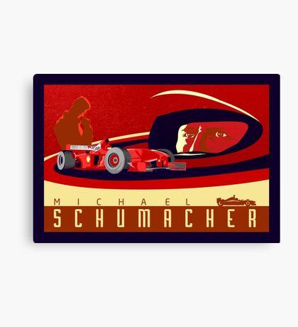 michael schumacher Ferrari racing poster Canvas Print