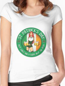 St Patrick's Day Gal Variant Women's Fitted Scoop T-Shirt