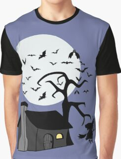 Spooky Witch's House Graphic T-Shirt