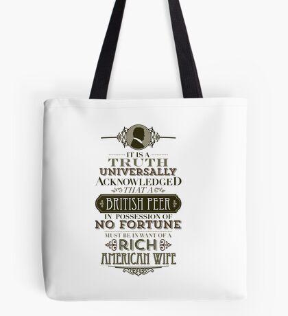 The Penniless Earl Tote Bag