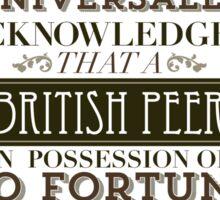 The Penniless Earl Sticker