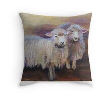 Sheepish buddies Throw Pillow
