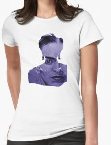 FRIDA Kahlo - between worlds - blue Womens Fitted T-Shirt
