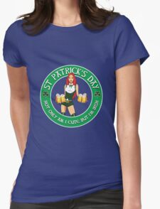 St Patrick's Day Gal Variant Black Womens Fitted T-Shirt